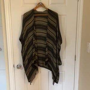 Roots Striped Open-Front Wrap